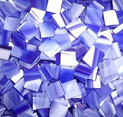"""100 1/2"""" Wave Blue Tumbled Stained Glass Mosaic Tiles"""