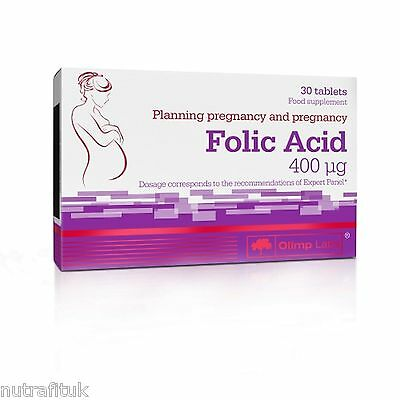 OLIMP Kwas Foliowy 30 Tabs Folic Acid Pregnancy Planning Support