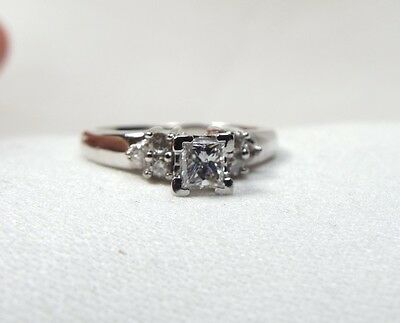 Brilliant Princess Cut Diamond Engagement Ring in Platinum  ~Priced to Sell~
