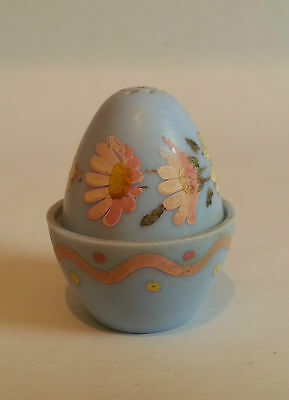 Vintage 50s Painted Plastic Pepper Pot. Ideal for Chili Powder. Novel Easter Egg