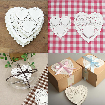 CRAFTS Heart Paper Lace Doilies for Card making & Scrapbooking Party  / 200pcs