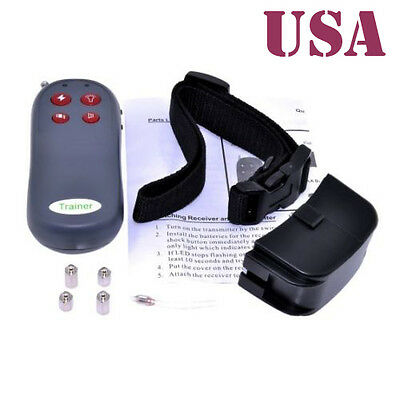 4in1 Shock Vibrate Remote Small/Med/Large pet Dog Training Collar Controller USA