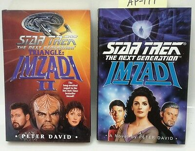 "Star Trek:Next Generation ""Imzadi"" Series Hardcover Book Set of 2 (M5651)"