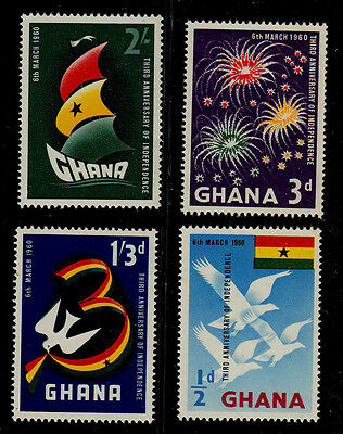 Ghana    Scott# 71-74    Mnh    Independence Issue