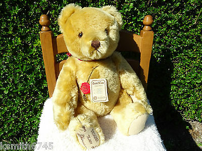 """HERMANN ORIGINAL TEDDY BEAR fully jointed mohair Limited Edition collectable 19"""""""