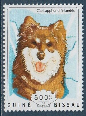 Finnish Lapphund Dogs Guinea Bissau MNH stamp 2014