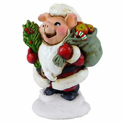 HOLLY HOG by Wee Forest Folk, WFF# P-11s, Forget-Me-Not Series, Limited Edition