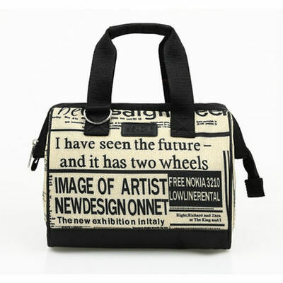 Sachi Insulated Style 34 Lunch Bag - Newspaper Print