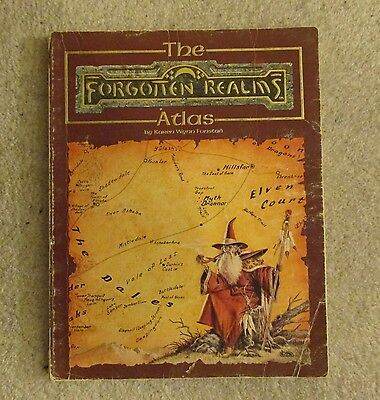 dungeons & dragons forgotten realms     atlas     book