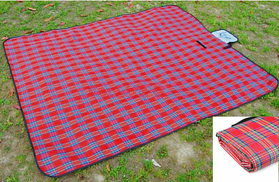 Waterproof Picnic Rug Travel Pet Blanket Outdoor Beach Camping Festival Large