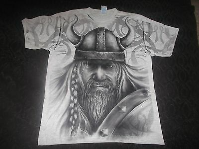 VIKING-SHIRT ALLOVER BATHORY SCANDINAVIA ENSLAVED WINDIR NEW RARE!!!