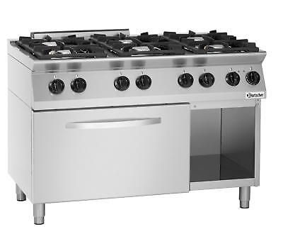 Bartscher 1582201 - Gas stove 6 burners 2/1 GN and open base frame