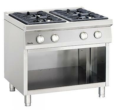 Bartscher 2951041 - Gas oven, 4 burners with neutral stand