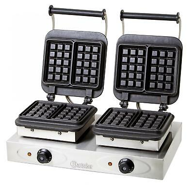"""Bartscher 370163 - Double waffle maker with baking plates """"Brussels"""""""