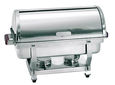 Bartscher 500458 - Chafing dishes food warmer rolltop GN1/1 chrome steel IE