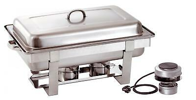 Bartscher 500482V - Chafing dish GN 1/1 electric heater included UK