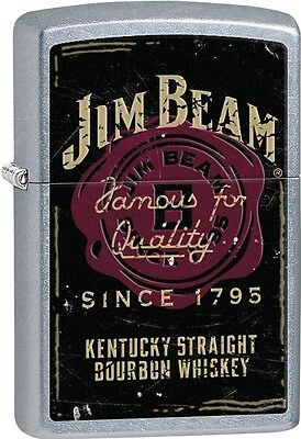 Zippo Jim Beam Vintage Famous For Quality Since 1795 Street Chrome Lighter 28841