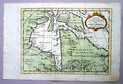 1757 Bellin Antique Maps x 3 of Canada, Hudson Bay St Lawrence River & Tributary