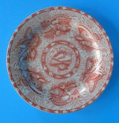 "Mottahedeh Coral Torquay 8 3/8"" Desert Pie Plate Smooth No Trim Mint Condition"