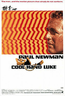 Cool Hand Luke - 27 x 40 Reproduction Poster - Paul Newman - George Kennedy