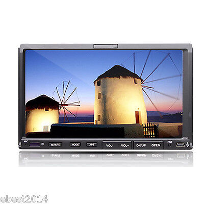 Double 2Din Car DVD Player Stereo 7'' Touch LCD In-Dash Bluetooth FM Mp3 TV Ipod