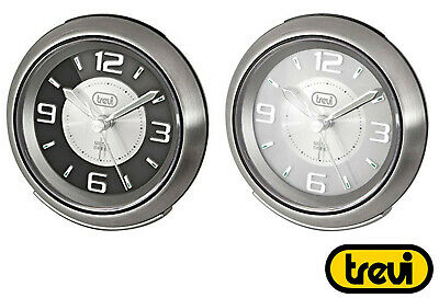 Trevi Bedside Alarm Clock Silent Ticking Stainless Steel FREE DELIVERY
