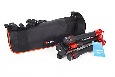 "Mefoto A-0320Q00R 9.4-24"" Daytrip 2 Section W/Ball Head RED Tripod(Mini Arca)"