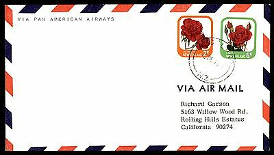 1975 New Zealand colorful franking Pan-American Airways first flight cover