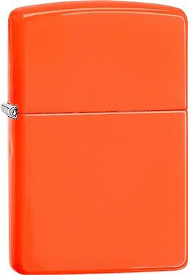 Zippo 2015 Catalog Brilliant Splash Classic Orange Windproof Lighter 28888 *NEW*