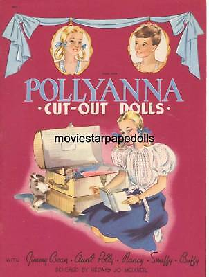 Vintage Uncut Pollyanna Paper Dolls Cute Hd~Laser Reproduction~Lo Pr~Hi Qual
