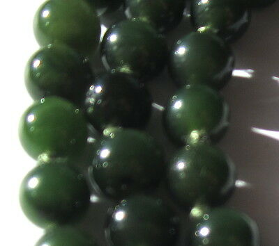 "32"" Hand-Knotted Necklace Of Stunning Small Antique Jade Vintage Beads"