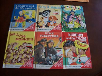 *LOT* 6 Rand McNally Illustrated Hardcover Children's Picture Story Books