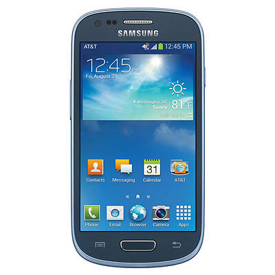 New Samsung Galaxy S 3 S3 Mini SM-G730A AT&T Unlocked 4G Android SmartPhone Blue
