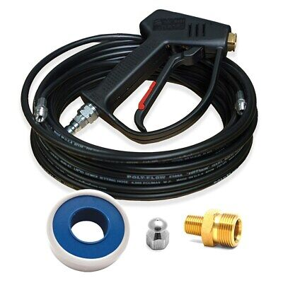 MTM Hydro Jetter Genie Pressure Washer Sewer Jetter Conversion Kit w/ 50-Foot...