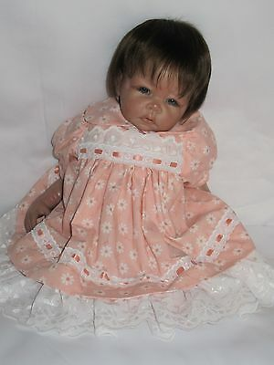 Light Peach with White Flowers Play Dresses for Reborn Baby