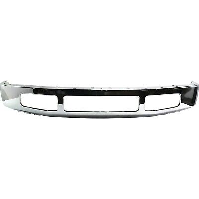 Front Bumper For 2008-2010 Ford F-250 Super Duty w/ Moulding Pad Holes, Chrome