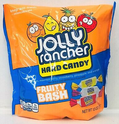 Jolly Rancher Fruity Bash Hard Candy Resealable Bag 13 oz