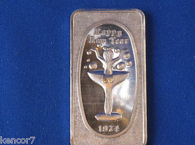 1974 Happy New Year Great Lakes Mint Silver Art Bar B2472