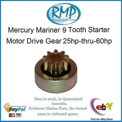 A Brand New 9-Tooth Starter Drive Mercury Mariner 25hp-60hp 4/Strokes # DV362
