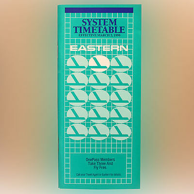 Eastern Airlines - Airline Timetable - System Timetable - March 2, 1990