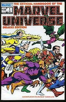 OFFICIAL HANDBOOK OF THE MARVEL UNIVERSE DELUXE EDITION #1-20 VF/NM COMPLETE SET