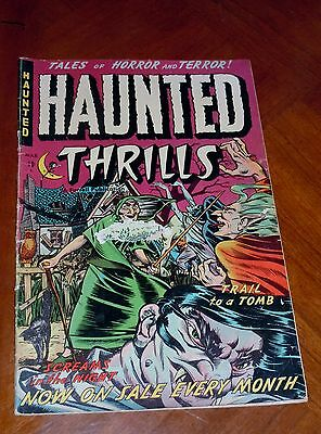 HAUNTED THRILLS #7  (1953) F-G (1.5) cond PRE-CODE HORROR Hanging