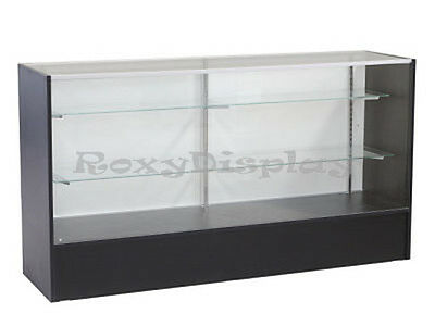 "70"" Black Full Vision Showcase Display Case Store Fixture KNOCKED DOWN #SC-SC6BK"