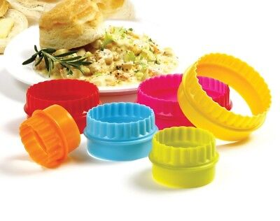 Norpro 3469 Plain and Scallop Cookie Biscuit Tart Two Sided Cutters 6 pc Set