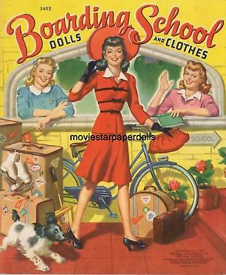 Vintage Uncut 1949 Boarding School Paper Dolls Hd~Laser Org Sz Reproduction~Lo