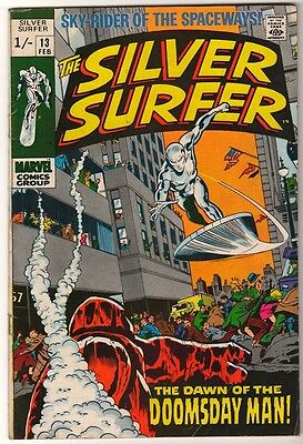 MARVEL Comics SILVER SURFER  Issue #13 Galactus Fantastic four VG+