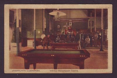 NL, Oldebroek Legerplaats, Kantine mit Billard. #613
