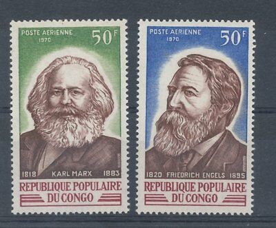 Congo (Brazzaville) 1970 Air. Founders of Communism set of 2