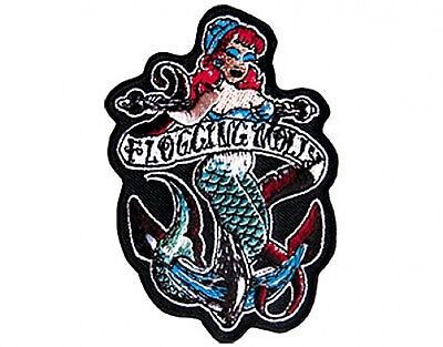 FLOGGING MOLLY mermaid shaped 2014 - EMBROIDERED IRON/SEW ON PATCH import