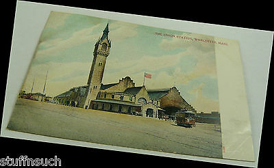 The Union Station Worcester MASS  Post Card  MA